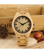Man's Brown Wood Watch, Handmade Vintage Wood Watches for Boy - £34.54 GBP