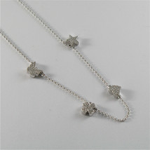Silver Necklace 925 Jack&co with Four-Leaf Clover Heart Star and Butterfly 45 CM image 2