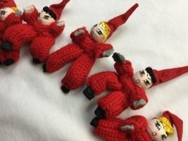 18 Handmade Vtg Elves Tomte nisse Christmas gnome crochet ornament Dolls - $46.74