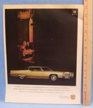 Vintage1969 Magazine Ad for Cadillac Rare Beauty Unrivaled Driving Pleasure - $5.93