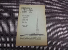 Old Vtg 1951 RADIOCOM MANUAL AERONAUTICAL COMMUNICATION SYSTEMS REGISTRY... - $19.79