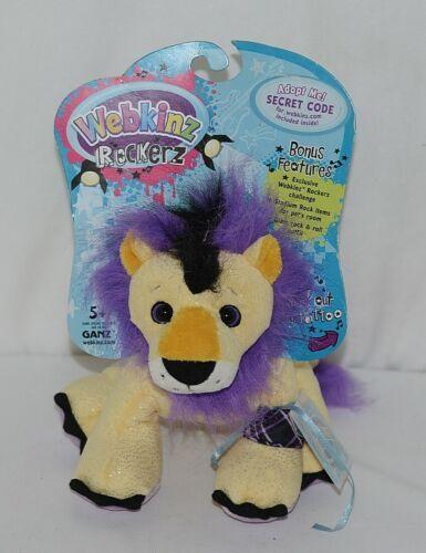 Ganz Brand HM5103 Purple Yellow Black Webkinz Rockerz Collection Plush Lion