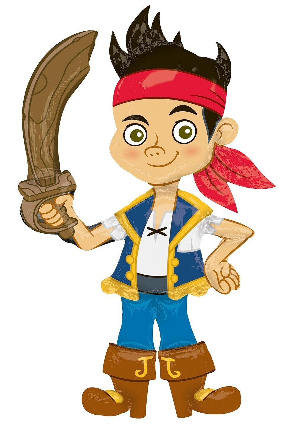Primary image for Jake & the Never Land Pirates Birthday Party Decoration Airwalkers Mylar Balloon