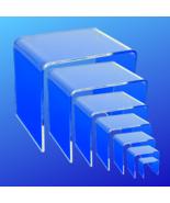Acrylic Riser Set - Complete Set of 7 Acrylic Display Risers - 2,3,4,5,6... - $27.99