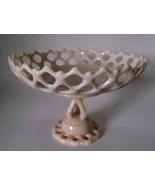 Westmoreland Doric ALMOND Milk Glass Pedestal Fruit Bowl Dish Centerpiec... - $54.98