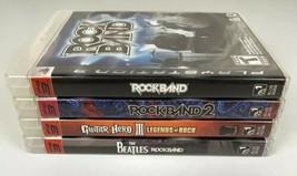 Ps3 Playstation 3 Video Game Lot Rockband Guitar Hero Beatles Tested - $24.99