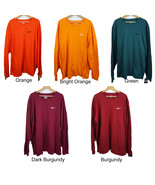New Nike Men's Long Sleeve Tee Logo Embroidered T-Shirt 2XL, 3XL Athleti... - $18.99