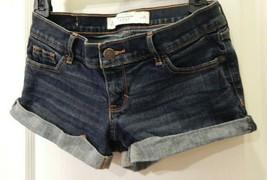 Abercrombie & Fitch Womens Shorts Jean Denim Shorts Sz 0 GUC - $14.40
