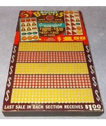 Mystery Bucks Bar Tavern Collectible Punch Board Game 5 Cent 625 Punches - $24.95