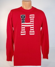 Tommy Hilfiger Red Logo Stars & Stripes Cotton Sweater Youth Boys NWT - $44.99