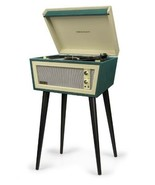 New old style Crosley Sterling green cream 2 speed record player removab... - $249.77
