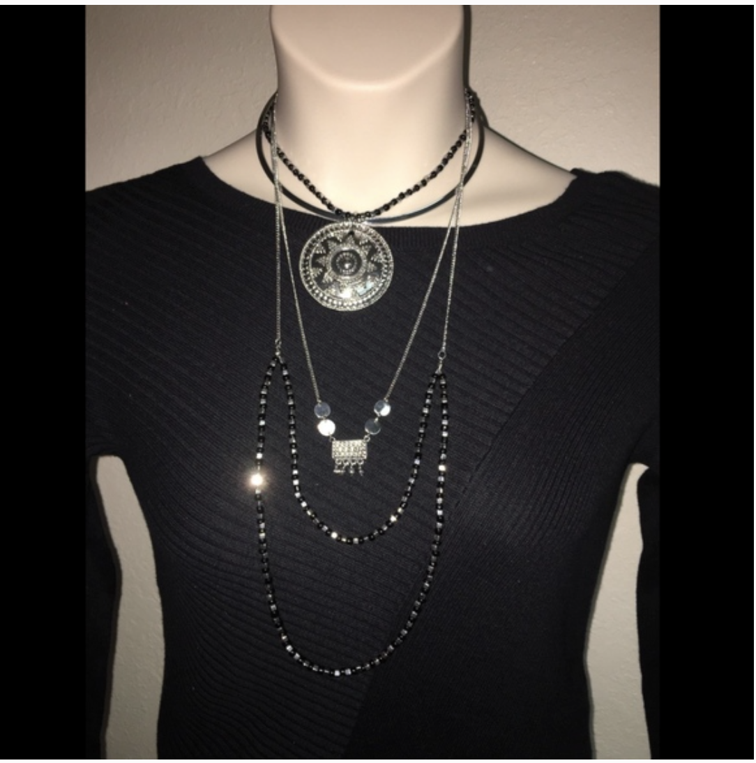 Primary image for Express Necklace Silver in color Womens NWT $39.90