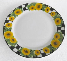Sunflower Design Ceramic Collectible Side Plate by KMC - $13.99