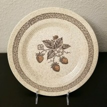 """Homer Laughlin Country Strawberry 10 1/4"""" Dinner Plate Speckled Tan USA - $6.80"""
