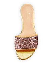 KATE SPADE New York Madeline Glitter Slides Flats Sandals Rose Gold Multi ( 10 ) - $99.24
