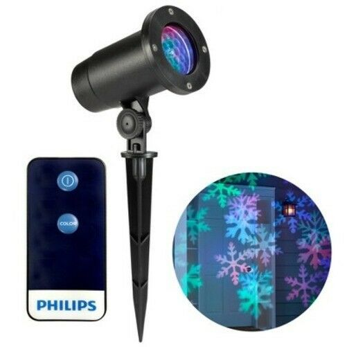 Philips Christmas Holiday LED Motion Projector Multicolor Snowflake Patterns NEW