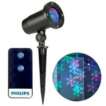 Philips Christmas Holiday LED Motion Projector Multicolor Snowflake Patterns NEW image 1
