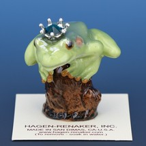 Birthstone Tree Frog Prince May Emerald Miniatures by Hagen-Renaker