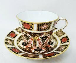 Royal Crown Derby Old Imari 1128 Teacup and Saucer - Tea Coffee Cup - $69.30