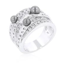 Gray Pearl Cocktail Ring - $36.00