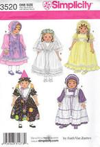 "18"" Doll Clothes Bridal Wedding Party Dresses Bonnet Hat S 3520 Sewing P... - $8.41"