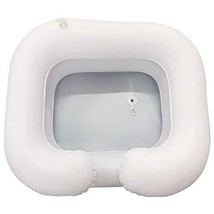 PVC Hair Washing Basin,Inflatable Shampoo Basin Kit for Disabled and Elderly Bed