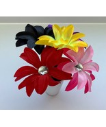 5 Flower Pens Colorful Multi-Color Vase Gift Set Handmade Home Office Te... - £10.89 GBP