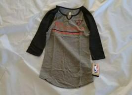 NBA Juniors Girl's Phoenix Suns 3/4 Sleeve V-Neck Black/Gray Shirt S(3-5) - $26.18