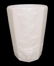 76625a westmoreland milk glass paneled grape 8 oz flat drinking tumbler vintage thumb200
