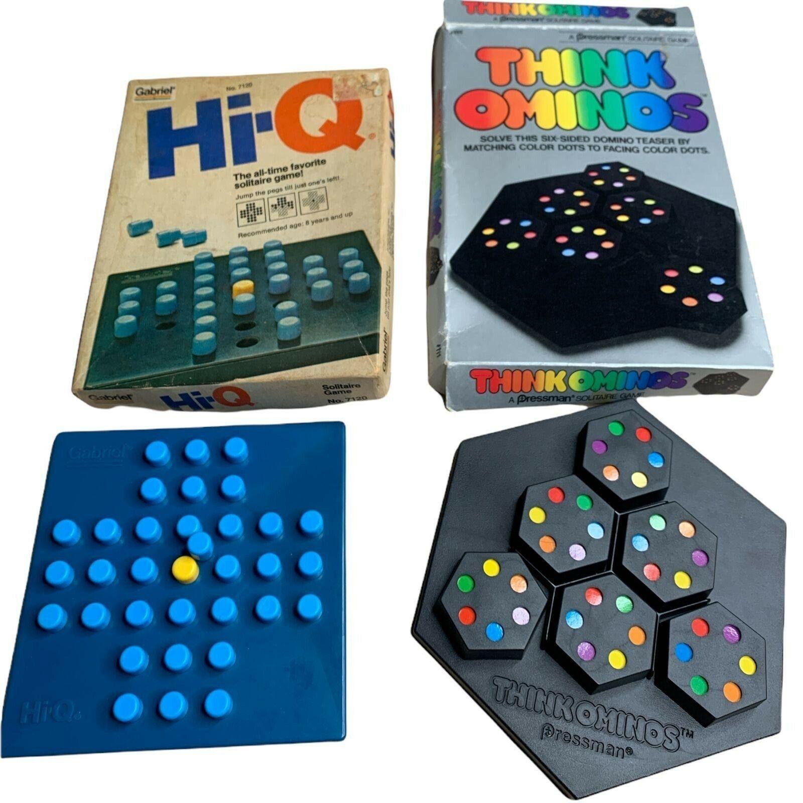 Vintage Solitare Games Think Ominos Pressman Hi-Q Gabriel - $20.00