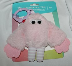 New Baby Girl Manhattan Toy Pink Monster Teether Rattle Activity Car Sea... - $7.91