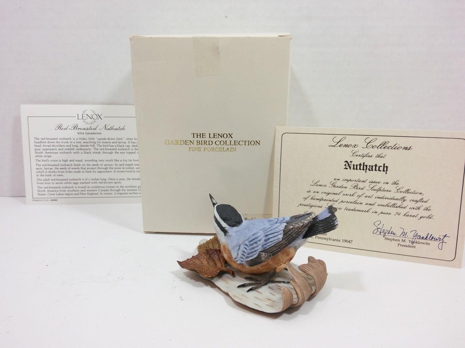 THE LENOX GARDEN BIRD COLLECTION Nuthatch (Fine Porcelain 1987) image 2