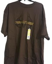 Delta REALTREE Mens S/S  Brown T Shirt Size XL 50-52 - $20.78