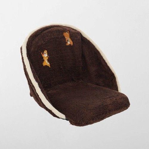 Disney Chip & Dale Mini Bore Seat Chair Fur Folding Chair Cushion Chair Japan image 6
