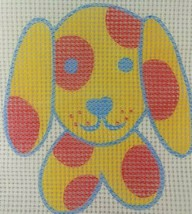 Dog Needlepoint Canvas Penelope Style Puppy Polka Dot Pillow Cute 2 AVAI... - $2.50