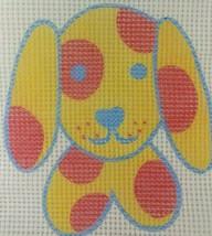Dog Needlepoint Canvas Penelope Style Puppy Polka Dot Pillow Cute 2 AVAI... - $2.50