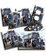 STEAM ENGINE TRAIN OLD RAILROAD BIG BOY LOCOMOTIVE LIGHT SWITCH OUTLET PLATE ART - $8.99 - $11.69