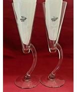 """cocktail clear glasses Jaguar XF logo  2 V shape  9 1/2"""" - $11.83"""