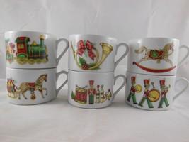 Rare Set of 6 Fine Porcelain Vista Alegre Portugal Christmas Magic Flat ... - $24.25