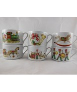 Rare Set of 6 Fine Porcelain Vista Alegre Portugal Christmas Magic Flat ... - $24.25