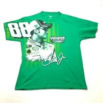 Dale Earnhardt Jr Tee T Shirt Mens L Green Hendrick Motorsports NASCAR C... - $14.01