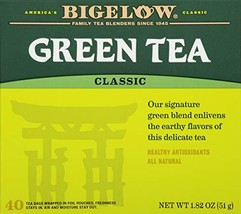 Bigelow Classic Green Tea Bags 40-Count Boxes Pack of 6 Caffeinated Indi... - $28.35