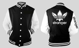Stranger Things Addidas Leaf Letterman Varsity Baseball Fleece Jacket - $35.63