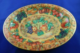 "Vintage Daher Decorated Ware Fruit Oval Metal Tray 12 1/2"" Wide - $9.85"