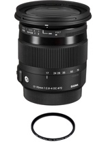 Sigma 17-70MM F2.8-4 Dc Macro Os Hsm -CANON With Hoya 72mm Pro 1D Protector - $528.02