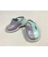 Gymboree Vtg Spring Showers Baby Size 1 Purple Aqua Dragonfly Shoes Clogs - $19.99