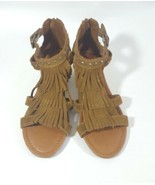 Minnetonka sandals brown suede fringe boho sz 6 - $28.04