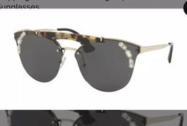 NIB Prada SPR 53U New Sunglasses PR 53US 53US Pale Gold / Light Havana I... - $201.03