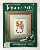 Leisure Arts The Magazine Nov/Dec 1987 Christmas Cross Stitch Knit Crochet Craft - $9.45