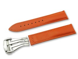 Orange Leather Watch Strap Band for Omega Seamaster Clasp 18 19 20 21 22mm - $37.26+